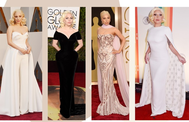 Lady Gaga: estilo glam (Foto: Getty Images)