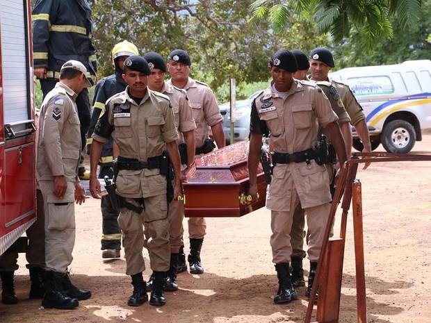 Enterro do soldado da PM Ivan Borges de Lima foi neste domingo (3) em Palmas (Foto: Ademir dos Anjos/Divulgação)
