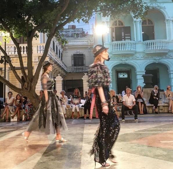 Desfile da Chanel em Cuba comea (Foto: Instagram)