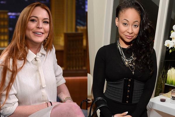 Lindsay Lohan e Raven Symone moraram juntas na adolescência, na época em que ambas eram estrelas da Disney (Foto: Getty Images)