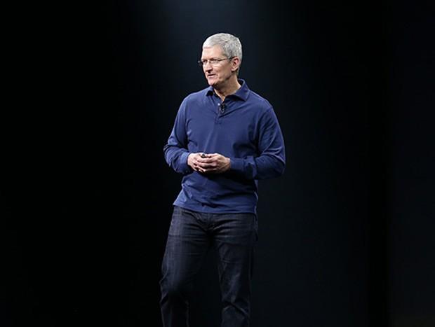 O CEO da Apple, Tim Cook, agradece aos desenvolvedores durante o WWDC, evento da empresa (Foto: Divulgação/Apple)