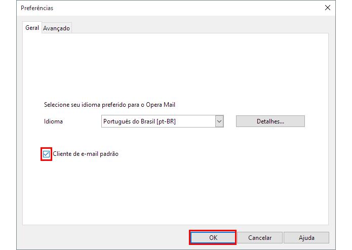 Torne o Opera Mail o app padrão de mensagens no Windows (Foto: Reprodução/Paulo Alves)