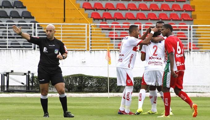 Comemoração Boa Esporte x CRB (Foto: Assesoria CRB)