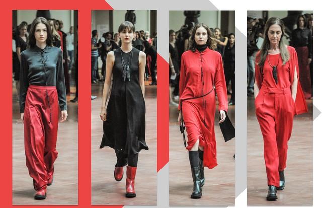Tendência preto e vermelho: UMA por Raquel Davidowicz (Foto: Charles Naseh)