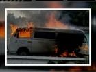 Veículo da Secretaria de Saúde pega fogo em Nova Friburgo, no RJ