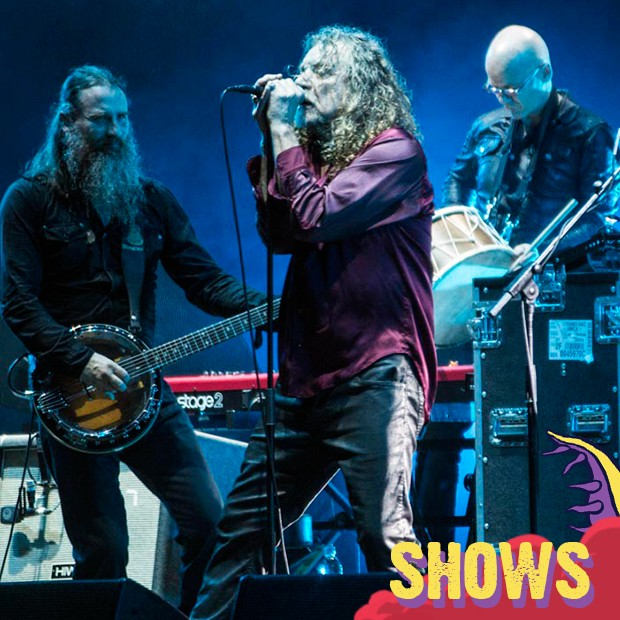 Robert Plant no Lollapalooza (Foto: Gshow)