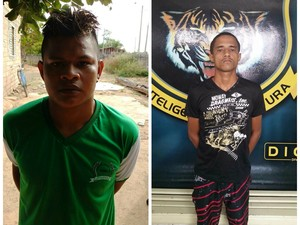 Da esquerda para a direita: Jhonatanael Marcos Silva de Oliveira e Raimundo das Chagas Area Santos (Foto: Divulgação/ Dicap)