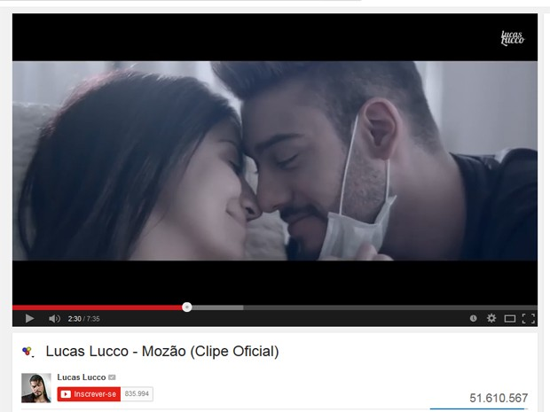 Clipe de 'Mozão', de Lucas Lucco (Foto: Reprodução/YouTube)