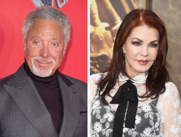 Tom Jones e Priscilla Presley (Foto: Getty Images)