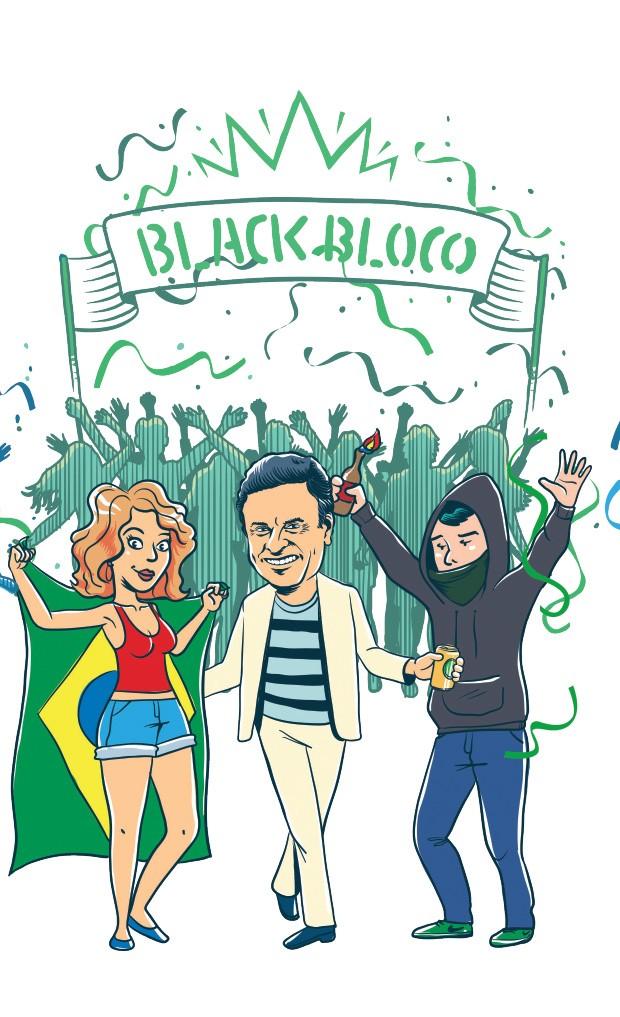 Black Bloco  (Foto: Ilustração: Estúdio Rufus)