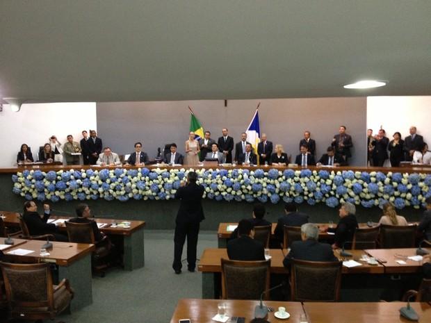A maioria absoluta dos deputados votaram em Sandoval Cardoso para governador (Foto: Jesana de Jesus/G1)