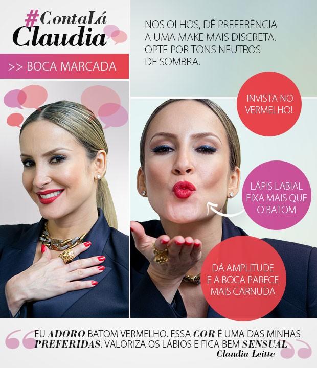Claudinha Leitte dá dias de uso de batom: aposta no vermelho (Foto: The Voice Brasil / TV Globo)
