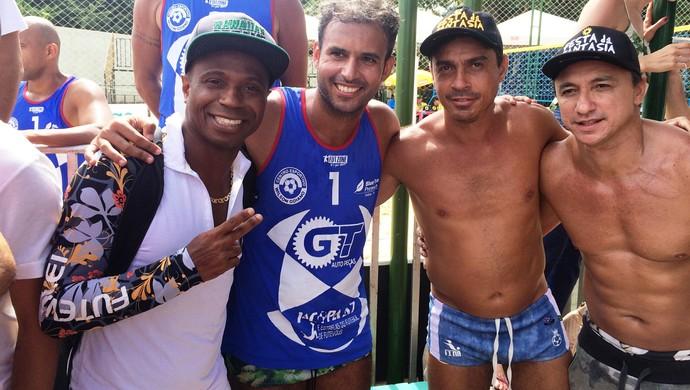 Edílson, Paulo Nunes e Alex Dias (Foto: Paula Resende/GloboEsporte.com)