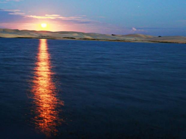 Imagem feita no ano passado mostra a beleza da lagoa antes do assoreamento (Foto: Gustavo Pereira)