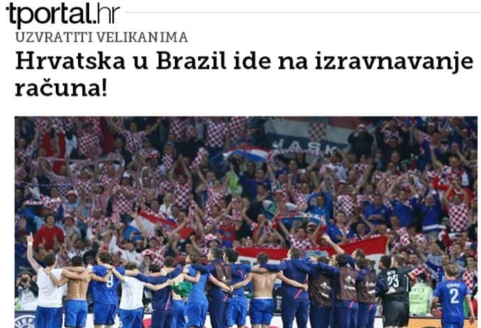 croacia jornal copa do mundo (Foto: Reprodução )