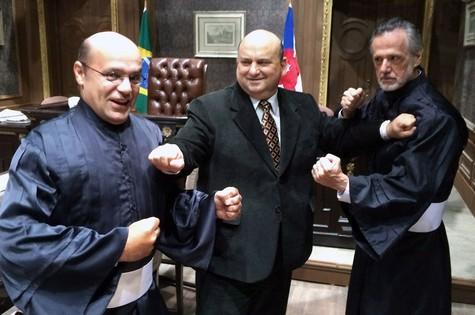 Gustavo Trestini, Vicentini Gomez e Marcio Ehrlich, de 'Joia rara' (Foto: José de Abreu)