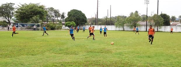 treino botafogo-pb, treino do botafogo-pb, botafogo-pb, (Foto: Lucas Barros / Globoesporte.com/pb)