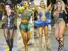 Veja quanto valem os looks das musas e rainhas nos ensaios de carnaval