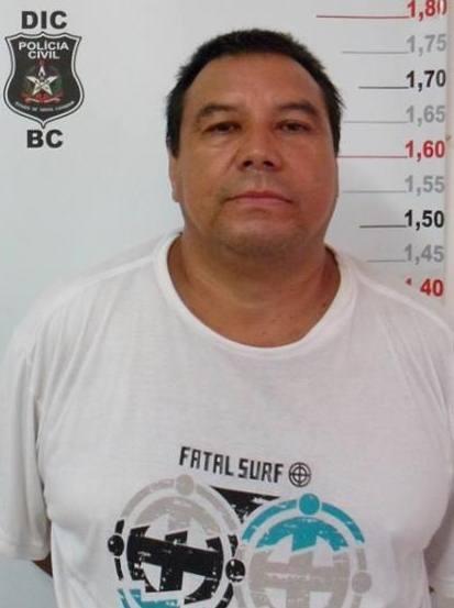 Pascoal foi preso em Balneário Camboriú (Foto: Polícia Civil/Divulgação)