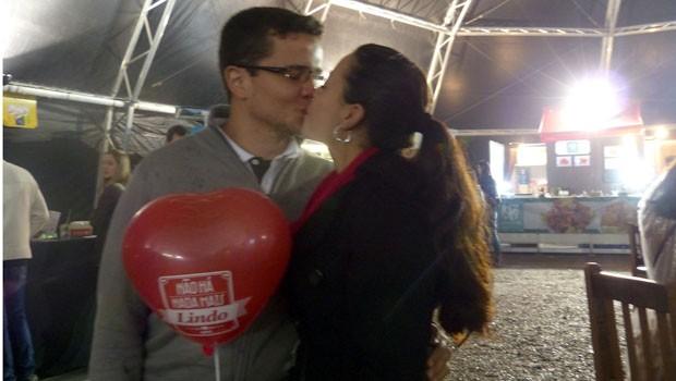 O amor estava espalhado por todos os lados (Foto: Divulgação/RPC)