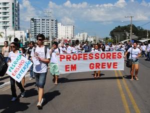 protesto ufes (Foto: Divulgação/ Larissa Zanin)