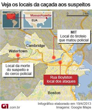 mapa perseguição boston versão 2 (Foto: 1)