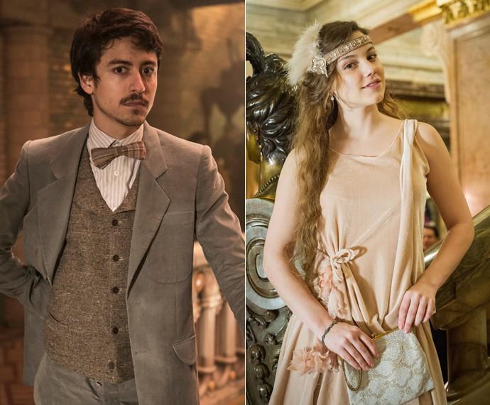 Felipe se envolverá com Cecília, personagem de Alice Wegmann (Foto: Inácio Moraes/Gshow e Caiuá Franco/TV Globo)