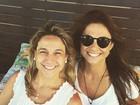 Fernanda Gentil posta foto com a namorada, Priscila Montandon