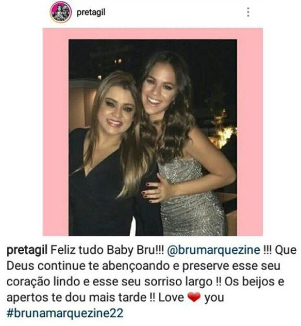 Preta Gil e Bruna Marquezine (Foto: Reprodução/Instagram)
