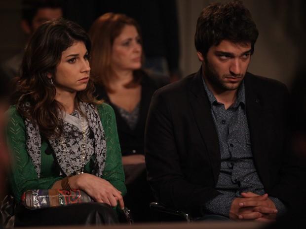 Davi fica arrasado ao ouvir a condenação de Jonas (Foto: Pedro Curi/Gshow)