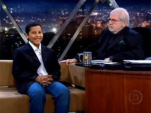 Fama repentina levou Dener ao Programa do Jô (Foto: Reprodução/TV Globo)