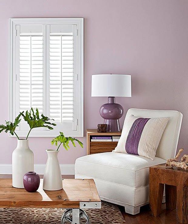 Cinza e malva s o as cores do ano na decora o casa e for Lilac living room walls