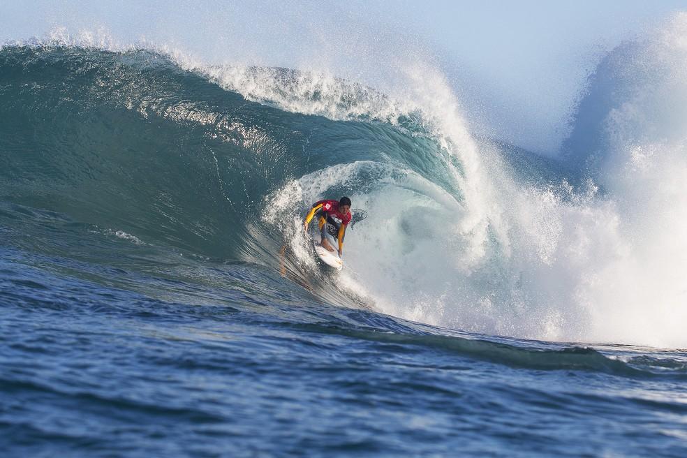 Gabriel Medina é um dos principais candidatos ao título nas ondas pesadas de Margaret River (Foto: WSL)