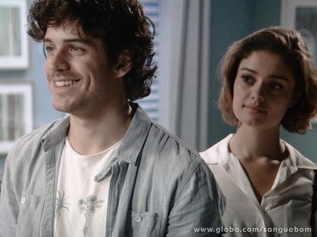 Bento atordoado com a notícia, mas feliz! (Foto: Sangue Bom / TV Globo)