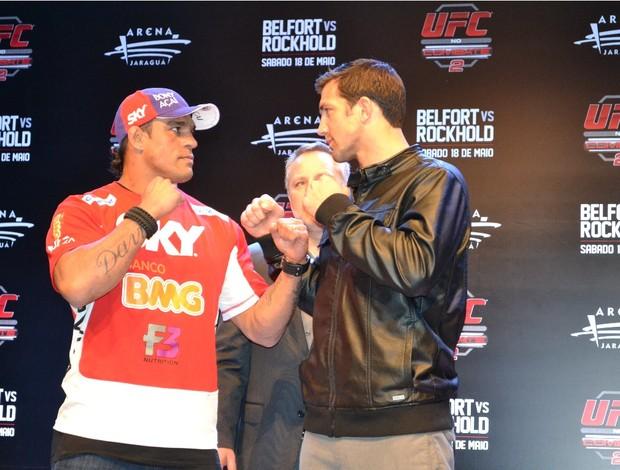 Vitor Belfort Luke Rockhold UFC Jaraguá do Sul (Foto: Ivan Raupp / SporTV.com)