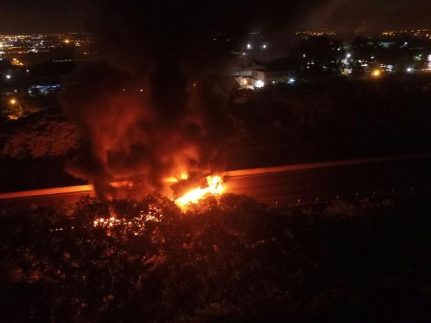 Causas da colisão ainda são desconhecidas, segundo a concessionária (Foto: Divulgação/Fabiano Brunello)