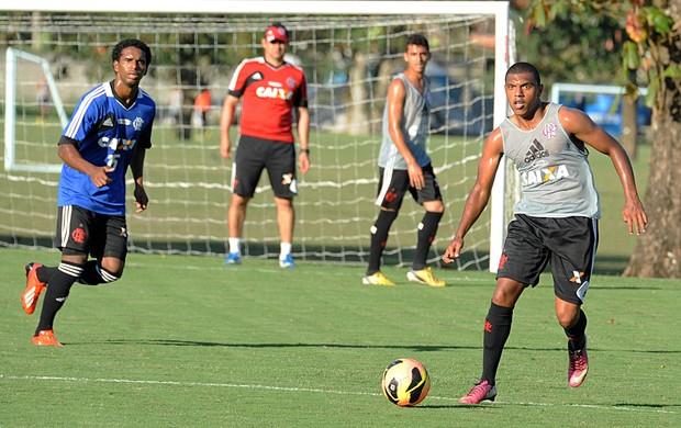 Romario treino Flamengo (Foto: Alexandre Vidal / Flaimagem)