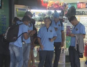 Spinners embarcou para a Taça Brasil na manhã da sexta-feira, 4 (Foto: Reprodução/TV Rondônia)