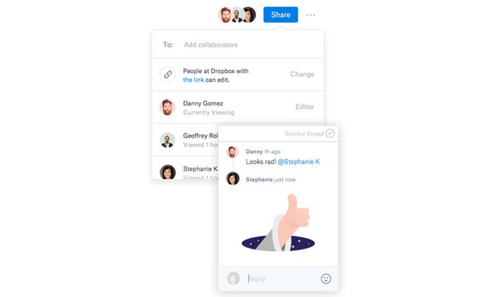 Paper oferece interações divertidas com adesivos para usuários (Foto: Divulgação/Dropbox)