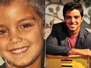 Rodrigo Simas antes e depois (Foto: Mais Você / TV Globo)