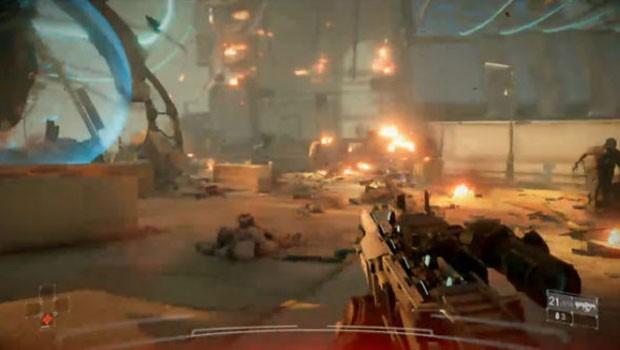 Cena do novo game 'KillZone: Shadow Fall' para PlayStation 4. (Foto: Reprodução)