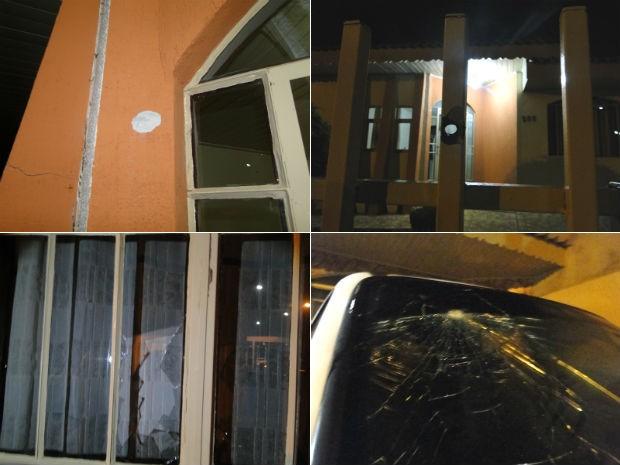 Tiros atingiram paredes, janelas, portão e carro do presidente Adilson Luiz Piran (PMDB), de Palmas (Foto: Alencar Pereira/Portal RBJ)