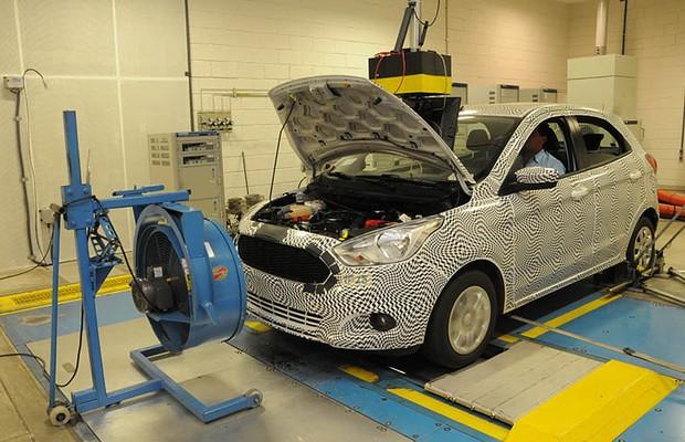 Novo Ford Ka no teste do dinamômetro (Foto: Divulgação)