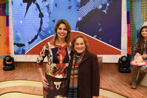 Neste sábado (27), Nicette participa do arraiá do Estúdio C, com a apresentadora Daiane Fardin (Foto: Priscilla Fiedler/RPC)