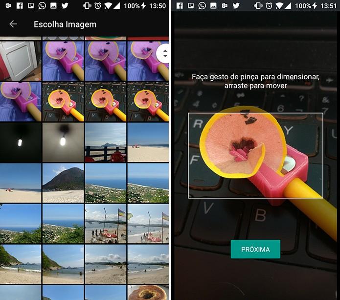 GBoard permite ajustar a foto para o tamanho do teclado do Android (Foto: Reprodução/Elson de Souza)