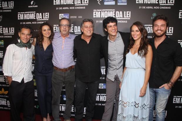 Elenco de 'Em nome da Lei' (Foto: Thyago Andrade/ Brazil News)