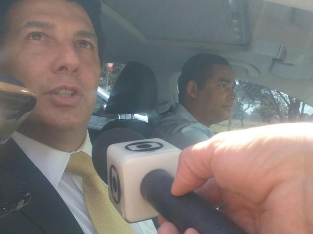 Deputado Arthur Maia foi um dos que se encontraram com Temer na manhã do domingo (Foto: Beatriz Pataro/G1)