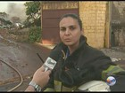 Bombeiros controlam fogo após 12h de incêndio em depósito de Serrana