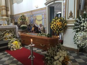 Velório de Monsenhor Gaspar Sadoc (Foto: Adriana Oliveira/TV Bahia)