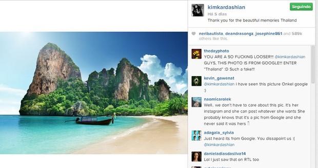 Kim Kardashian: foto não foi feita por ela (Foto: Reprodução/Instagram)